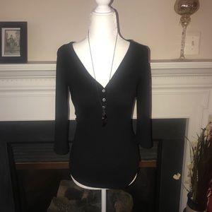 Old Navy   Quarter length sleeve black top
